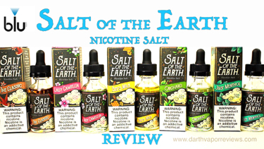 blu Salt of the Earth E-Liquid Line Review