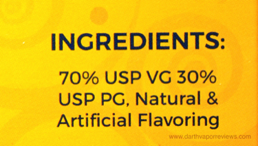 Shijin Vapor Baked Goods E-Liquid Line Ingredients