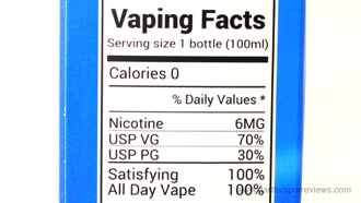 Shijin Vapor Tasty Os E-Liquid Line Ingredients