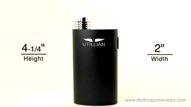 Utillian 420 Herbal Vaporizer Dimensions