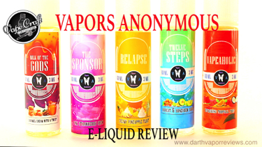 Vape Craft Vapors Anonymous E-Liquid Line Review